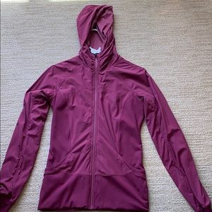 Maroon lily lemon zip up. Excellent condition!